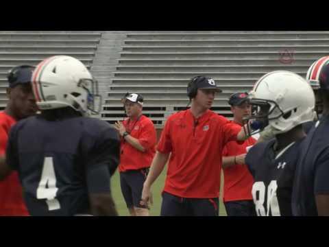 Auburn Football: 2016 Fall Camp: Rhett Lashlee Mic