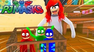 CAT BOY, CORUJITA AND LAGARTIXO WERE ARRESTED BY THE WICKED MOTHER IN ROBLOX-PJ MASKS
