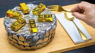 Money Cake - Stop Motion Cooking & ASMR EATING