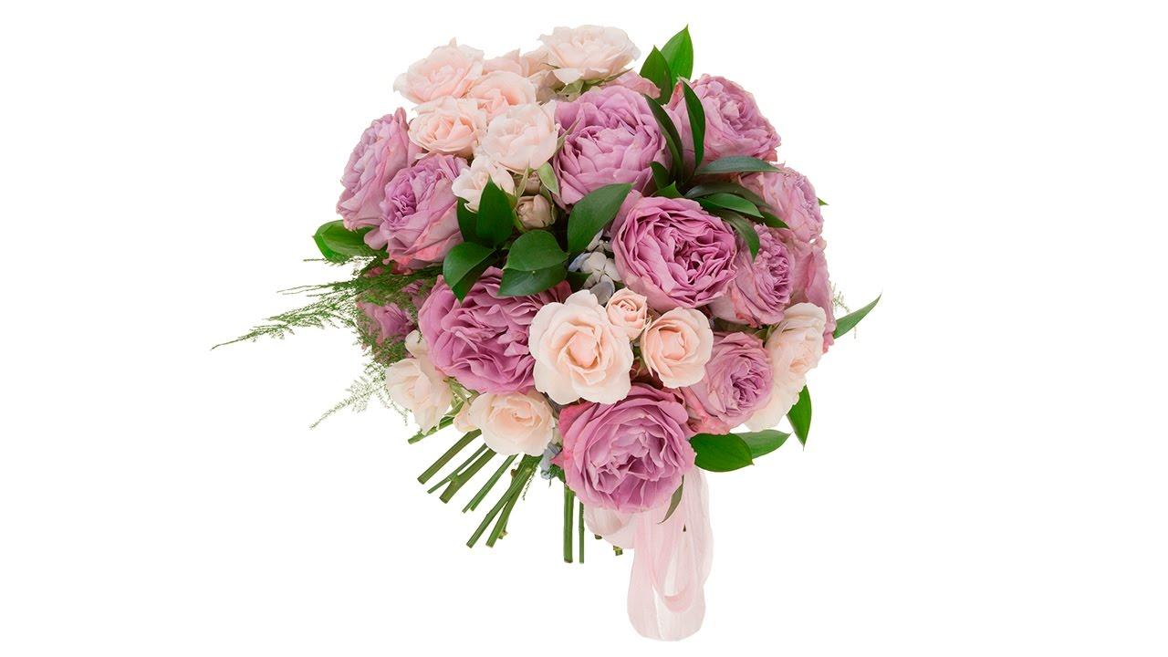 classic hand tied garden rose bridal bouquet