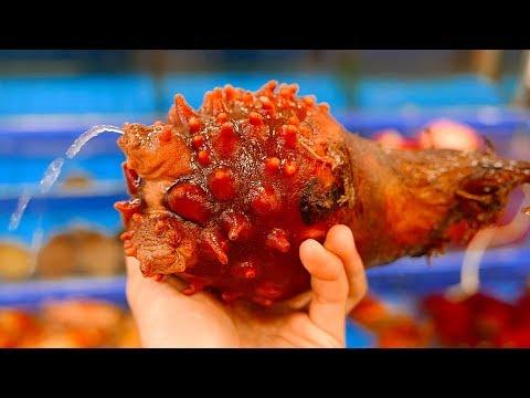 Korean Street Food  - SEA PINEAPPLE Seoul Korea Seafood