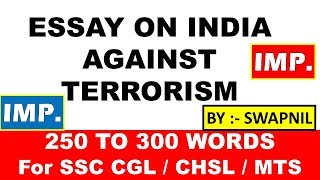 Essay Questions On Terrorism  Raceswimmingorg Essay On Terrorism Ssc Cgl In This Video We Will Be Explaining Can  Terrorism Be Justified Essay For Upsc Capf Assistant Commandant And Sbi Po  Exam   Example Of A Thesis Statement In An Essay also Essays On The Yellow Wallpaper  Term Papers And Essays