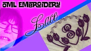 How to hoop + embroider a lace monogram on thin fabric (OML)