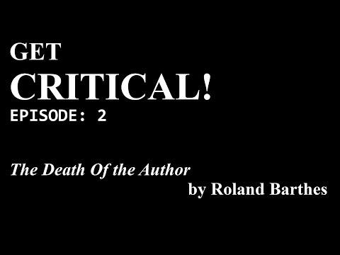 Get Critical! Episode 2: Roland Barthes's