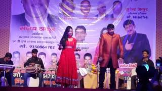 Manoj Tiwari in chhath puja  Nebsarai New delhi with Subhi Sharma .