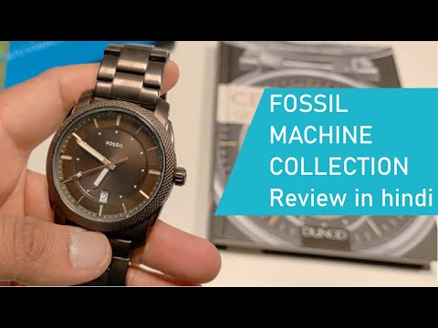 Fossil Machine Collection Quartz Watch Review In Hindi | Fossil Watch Price In India | Fossil India