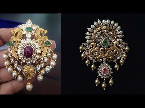 South Indian Traditional Gold Pendant Designs 2019