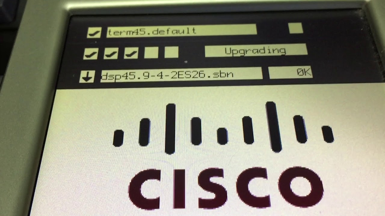 Cisco 7945 7945G upgrade SIP (or SCCP) firmware, reset factory default, fix  loop upgrading reboot by lancard86