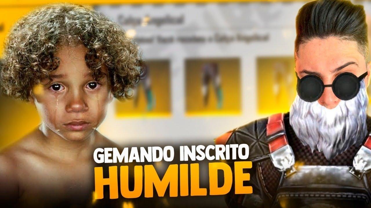 ❤️ GEMANDO ALEATORIO HUMILDE VOU DAR TUDO !! ❤️ EL MEGA ! SOLO RANKED !🔴FREEFIRE AO VIVO - LIVE
