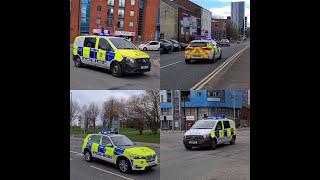 BTP ARV & Merseyside Police ARV Responding To A Incident On Blue Lights