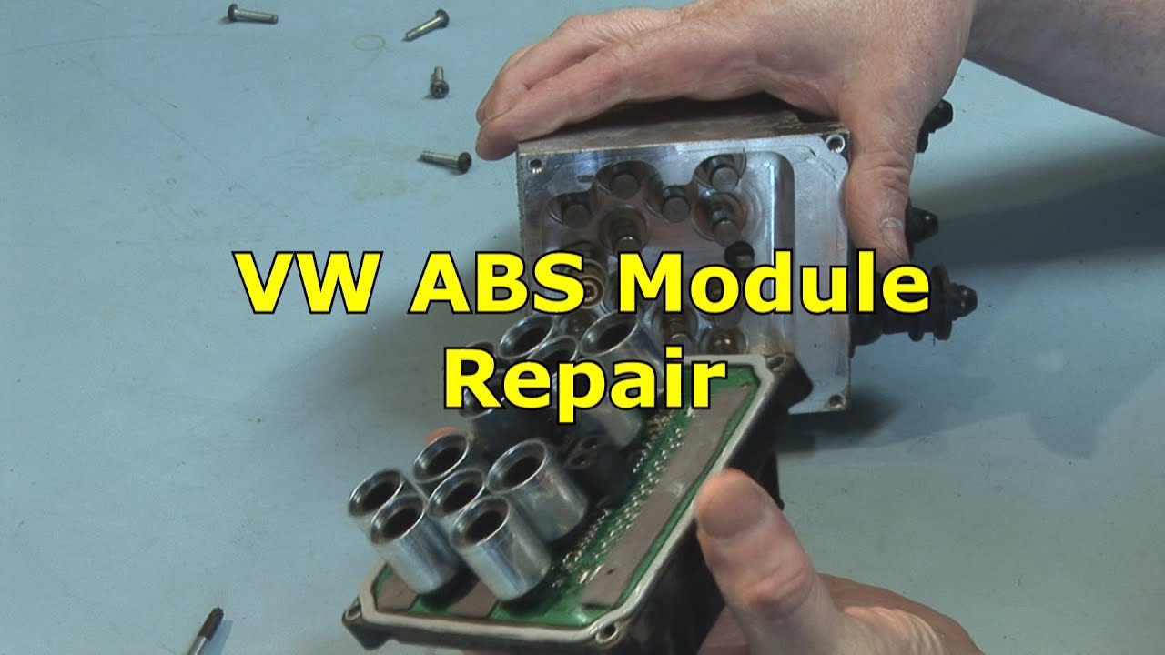 Abs Control Module >> VW ABS Module Repair 3C0.614.109.C - YouTube