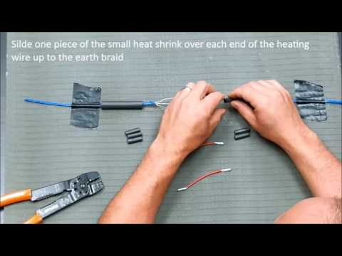 How To Repair Warmup Floor Heating Cable Youtube