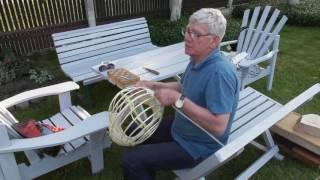 Мастер класс: плетение корзин, аппликации из природных материалов