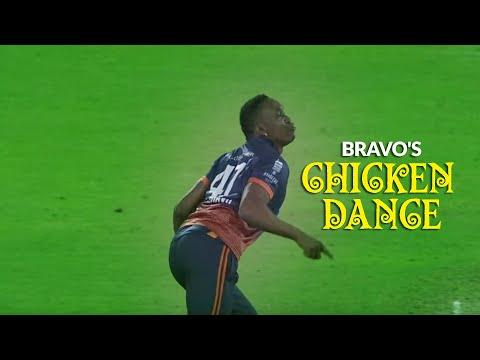 DJ Bravo's 'Chicken Dance', & unique steps!!!