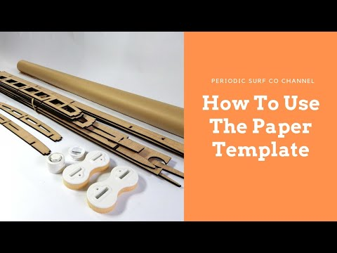 Working With Our Paper Templates - Hollow Core Wooden Surfboard Tips #2
