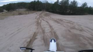 Creating my own track, motocross fun in the woods! GoPro Session POV mount 2016.