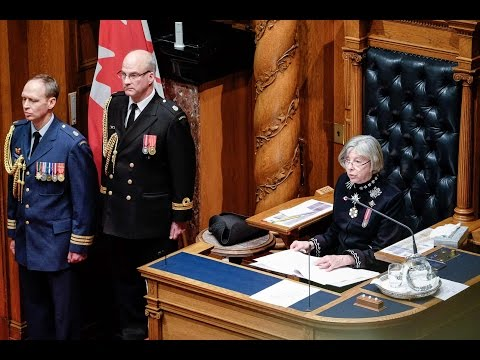 Throne Speech 2015 - FULL
