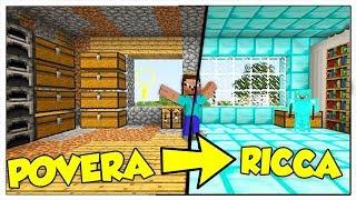 HO SCAMBIATO LA MIA CASA POVERA CON UNA RICCA! - Minecraft ITA