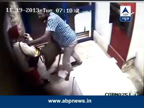 Bangalore Woman attacked and looted inside ATM, crime caught on CCTV