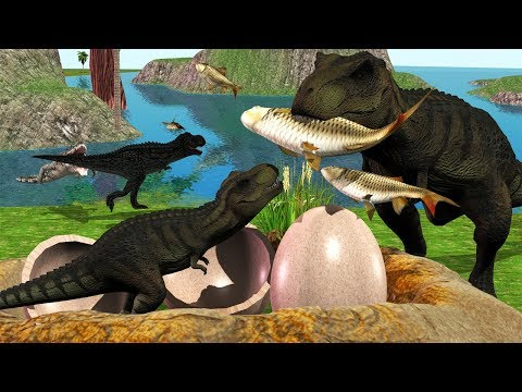 Mother Animal Save from Crocodile Of Cartoons Animals Short Movie