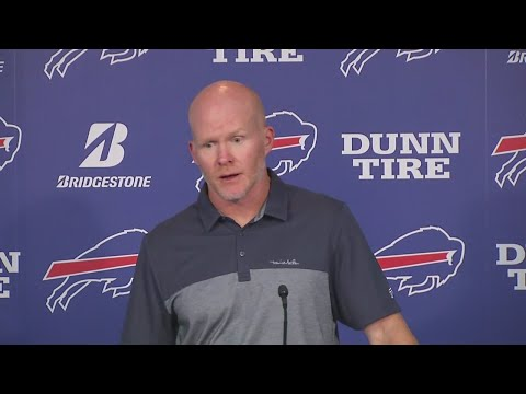 Head coach Sean McDermott answers questions after Bills defeat in Baltimore (FULL)
