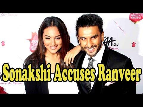 Sonakshi Sinha Accuses Ranveer Singh For Grabbing Attention