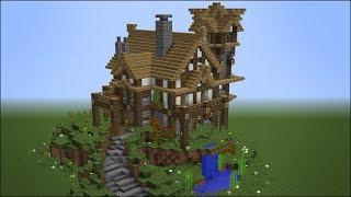 minecraft medieval rustic building survival