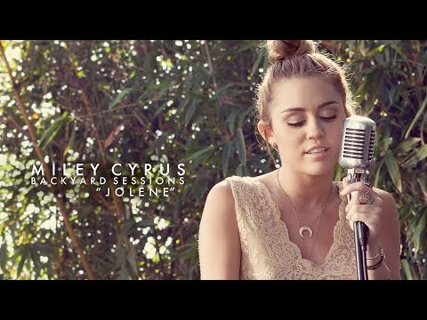 Jolene Cover by Miley Cyrus (Lyrics on screen)