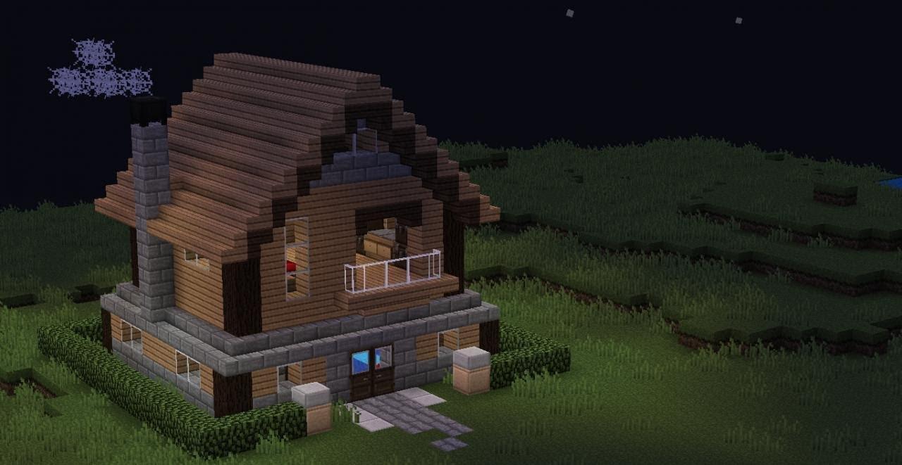 Как построить красивый и уютный дом в minecraft 6x6 всего ... Minecraft Mansion Ideas Of How To Build