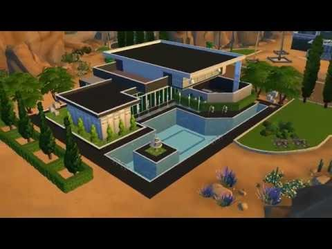 Mansion moderna para los sims 4 shadowsimmers youtube for Casa moderna los sims 3
