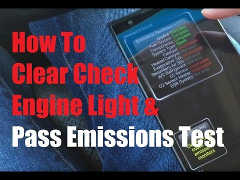 How to Clear Check Engine Light and Pass Emissions Test Under $15