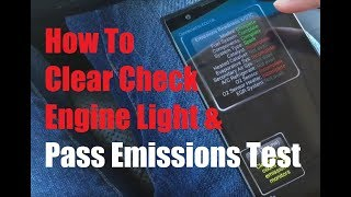 how to clear check engine light and pass emissions test under 20