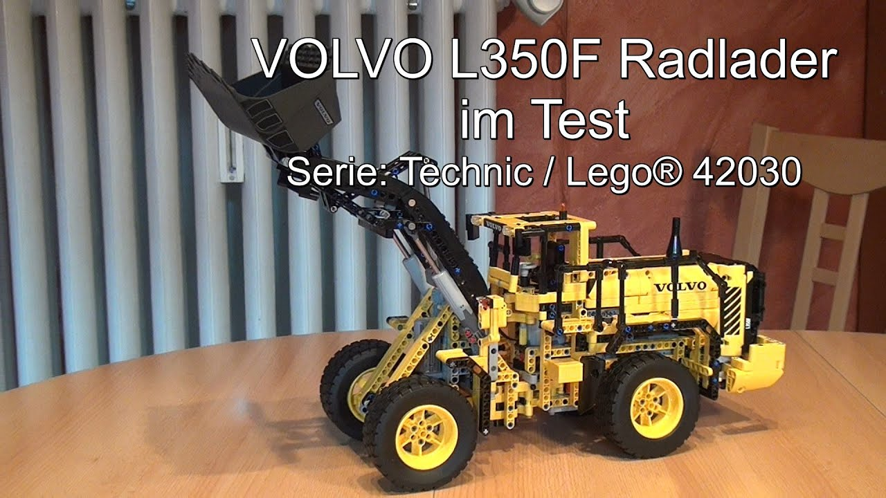 test lego volvo l350f radlader lego technic set 42030. Black Bedroom Furniture Sets. Home Design Ideas