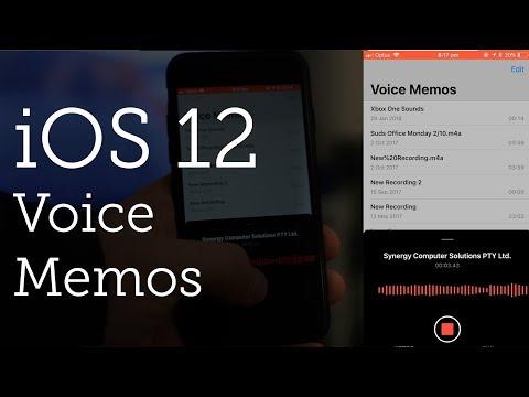 Voice Memos in iOS 12