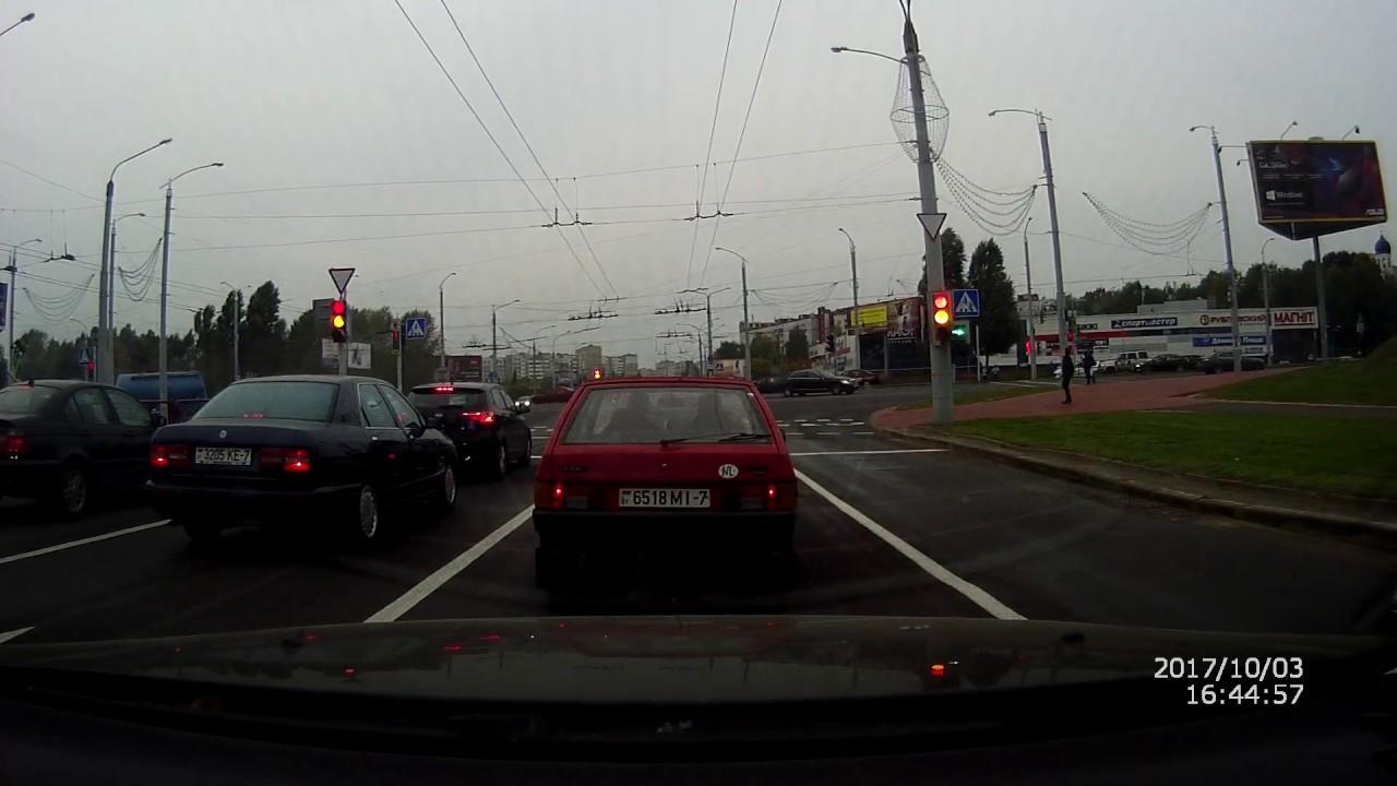 Дтп в Минске на пр. Дзержинского 03.10.2017