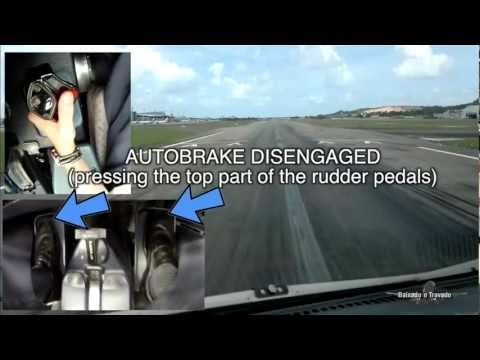 AIRBUS RUDDER PEDALS, BRAKES & SIDE STICK OPERATION (SBRF RWY18)