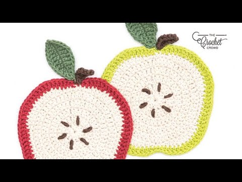How to Crochet A Dishcloth: Apple Dishcloth