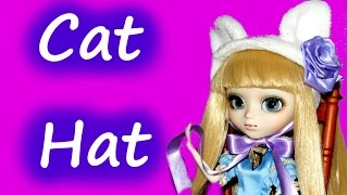 How to make Cat Ears Hat Tutorial for Dolls DIY