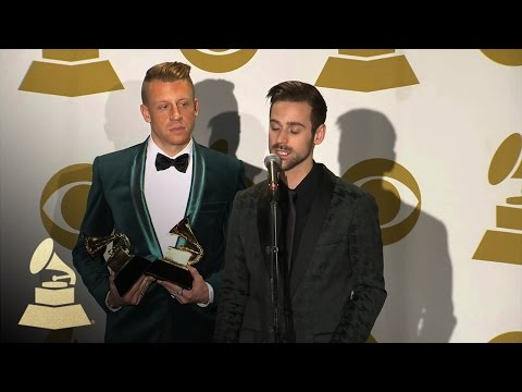 Macklemore & Ryan Lewis in TV/Radio Room at 56th Annual GRAMMY Awards | GRAMMYs