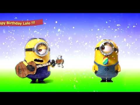 Minions Happy Birthday Lolo