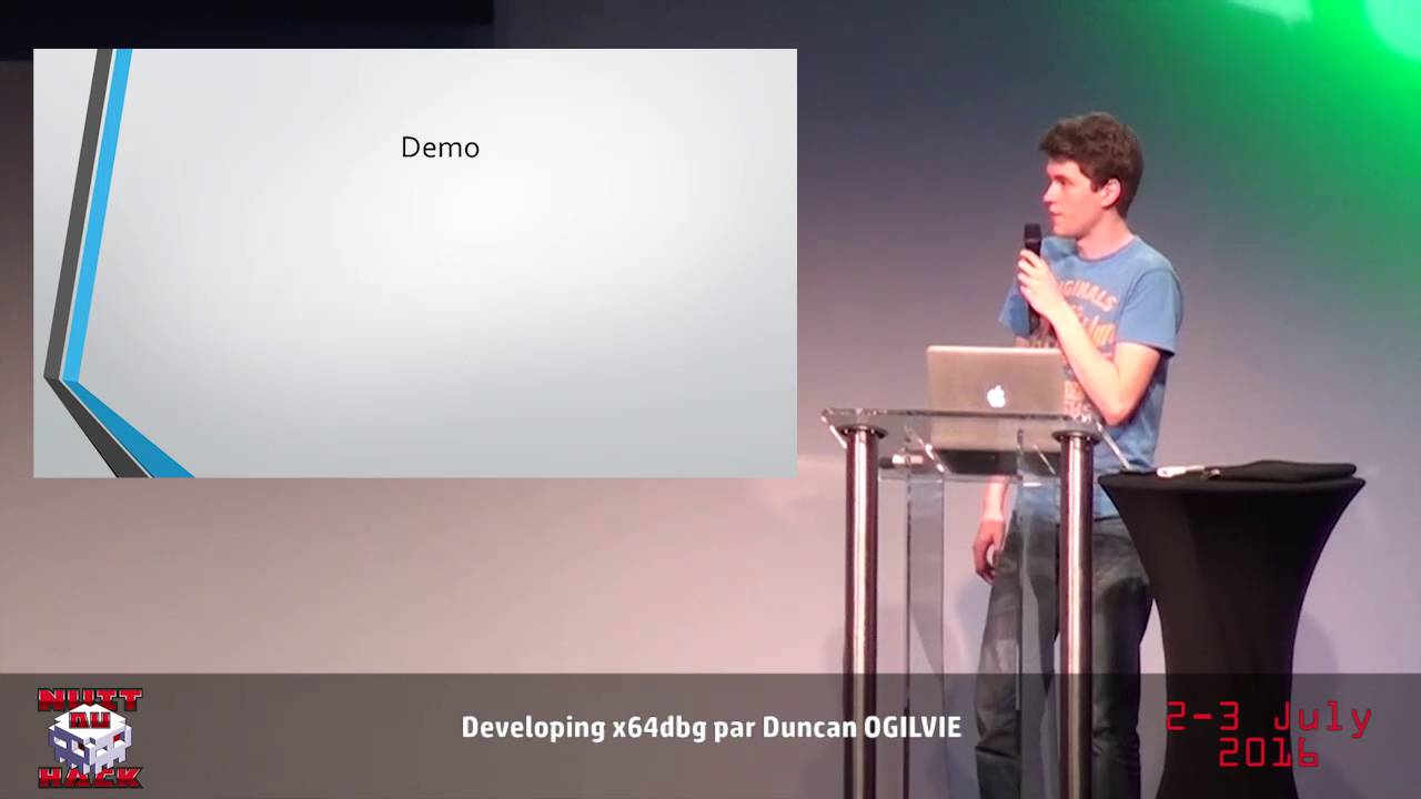 HackerZVoice - NDH2K16 - Developing x64dbg with Duncan OGILVIE by Asso HZV