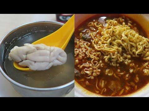 Eating Taiwanese Ramen, Pig Brain Soup & Breakfast From 7-Eleven