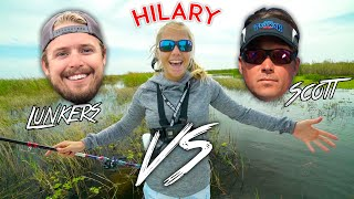 LunkersTV & Scott Martin vs Hilary on Lake Okeechobee