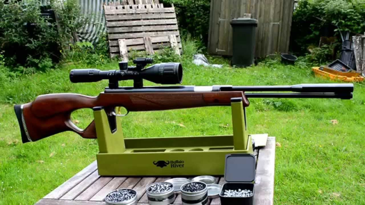 Shooting the Weihrauch HW97 KT .22 Air Rifle - YouTube