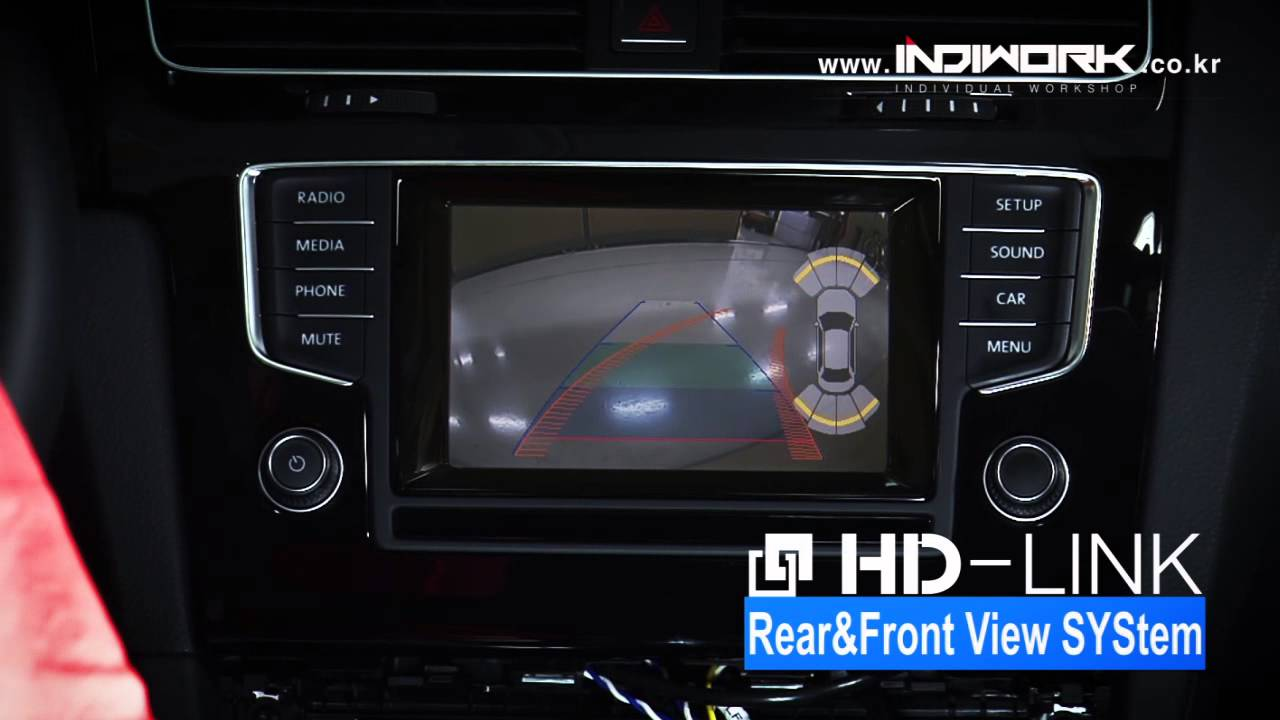 HD-LINK IW04VW for Volkswagen GOLF MK7 Rear View System by 인디웍 indiwork