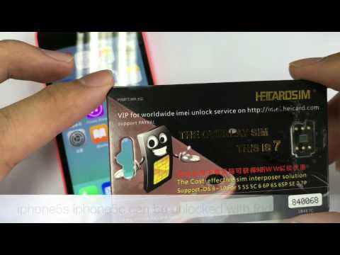 heicardsim 7 unlock iphone5s/5c with USIM 4G network - YouTube
