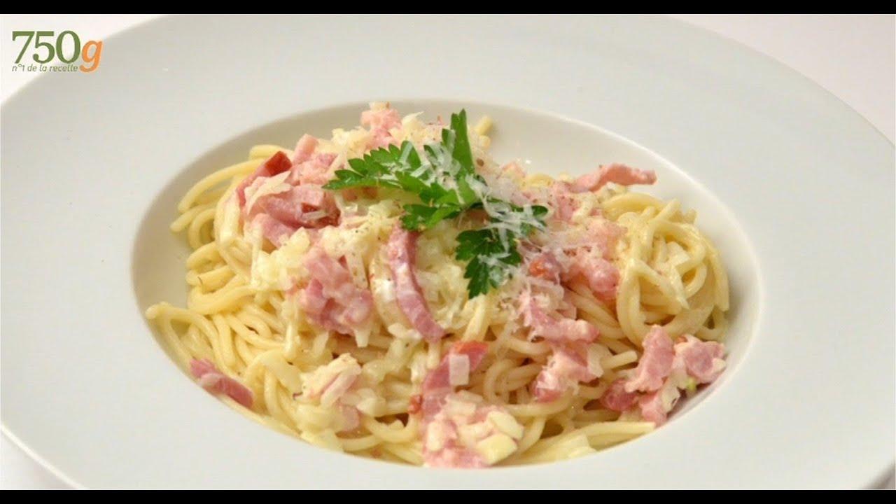 recette de sauce fa 231 on carbonara 750 grammes