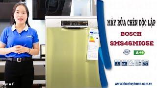 Review máy rửa chén Bosch SMS46MI05E Serie 4, top dòng máy bán chạy nhất đầu năm 2020