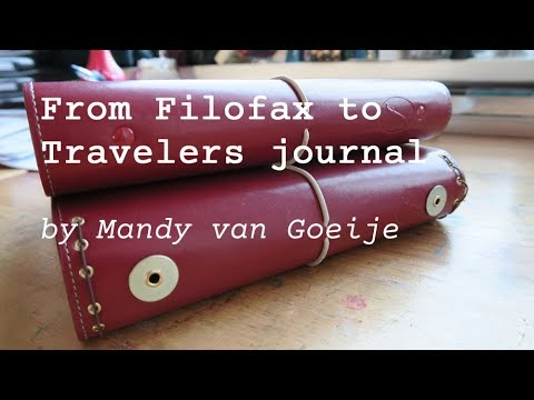 Transforming a Filofax Planner into a Traveler's Journal