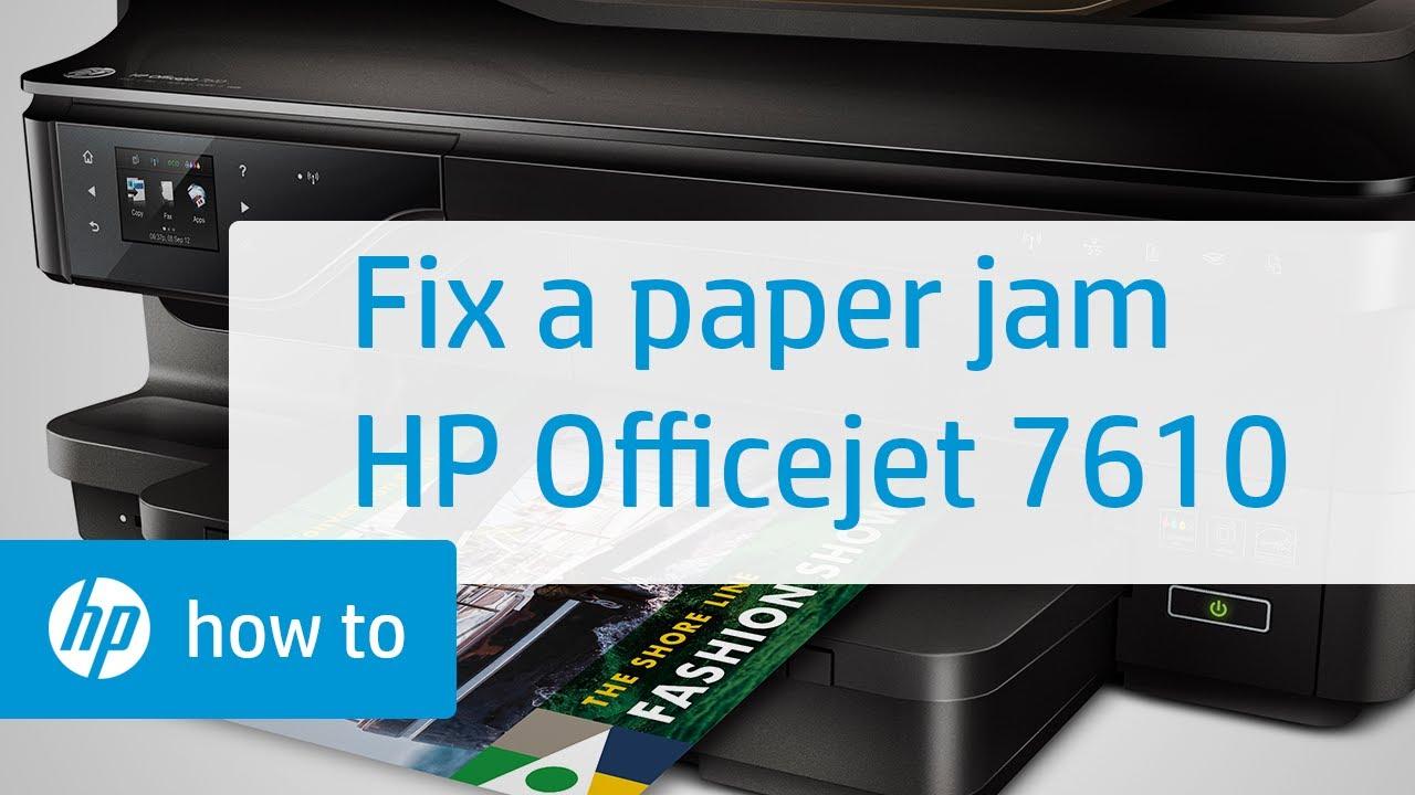 Hp Officejet 7610 Paper Jam Hp Officejet Hp Youtube
